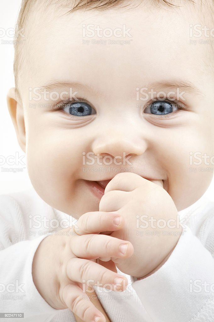 closeup portrait of adorable baby royalty-free stock photo