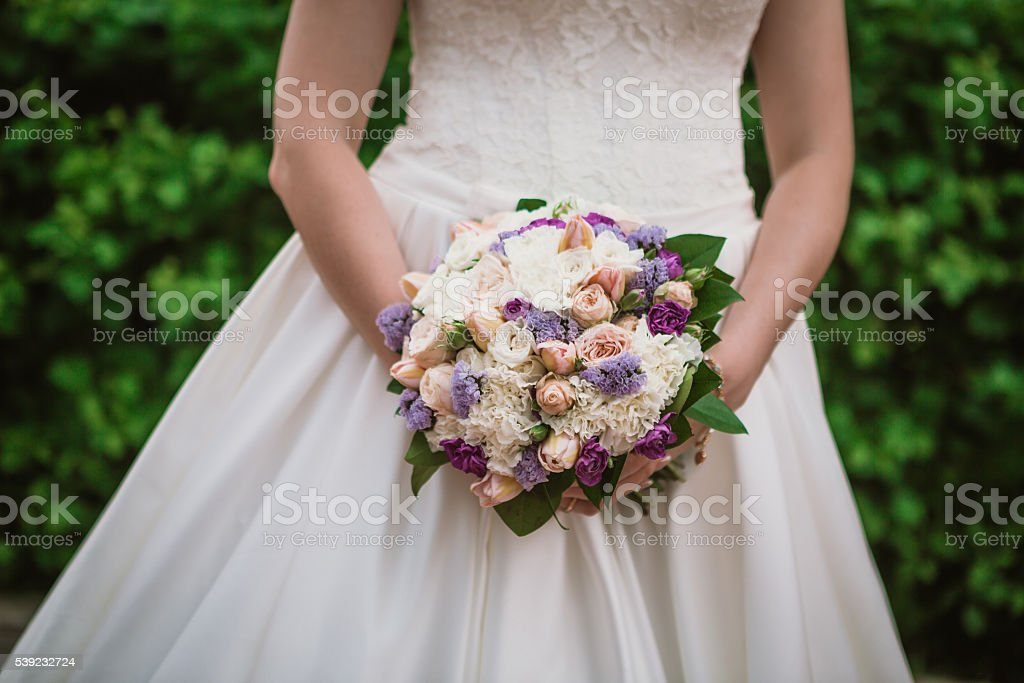 closeup portrait of beautiful bride - soft focus royalty-free stock photo
