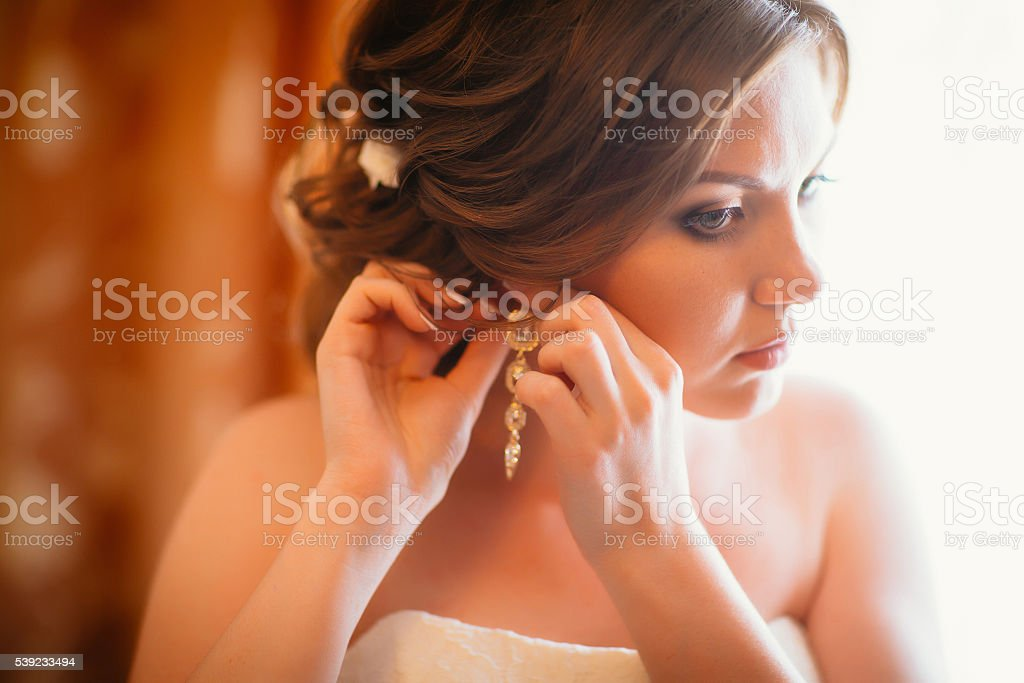 closeup portrait of beautiful bride - soft focus royalty-free stock photo