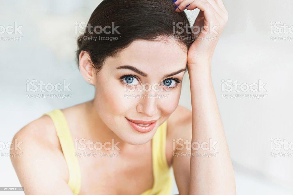 Close-up portrait de Belle femme - Photo