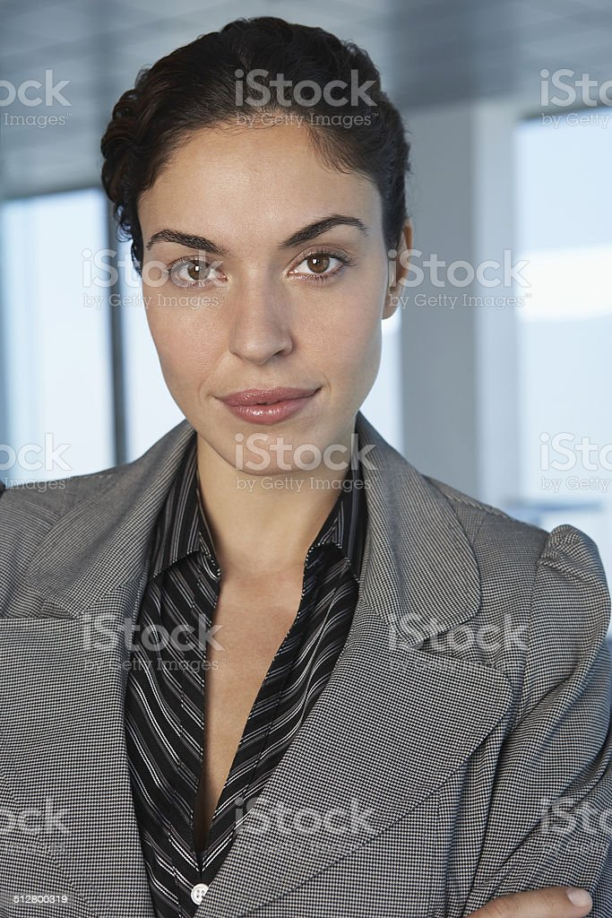 Closeup Portrait Of Businesswoman stock photo