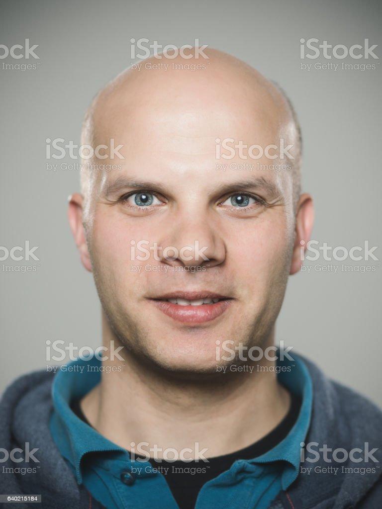 Close-up portrait of confident man stock photo