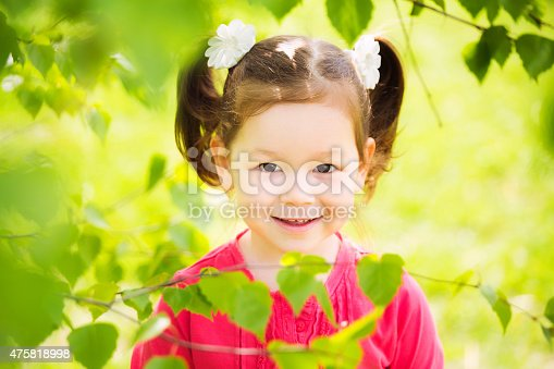 487217358 istock photo closeup portrait of funny little kid. beautiful girls face happy 475818998