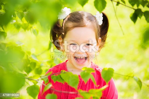 487217358 istock photo closeup portrait of funny little kid. beautiful girls face happy 475819004