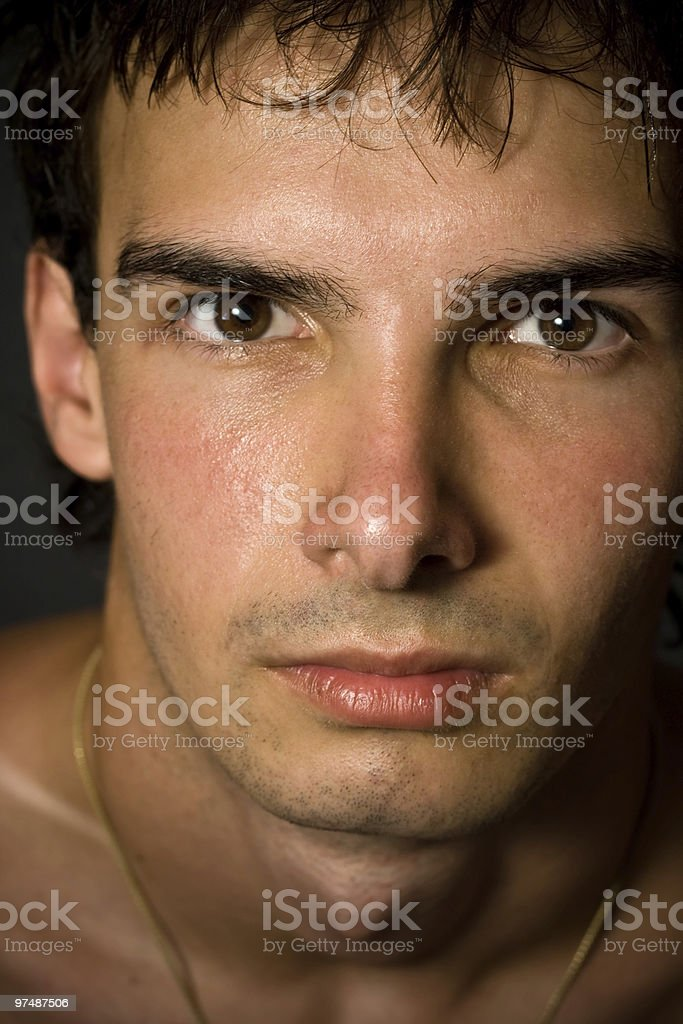 Close-up portrait of handsome man royalty-free stock photo