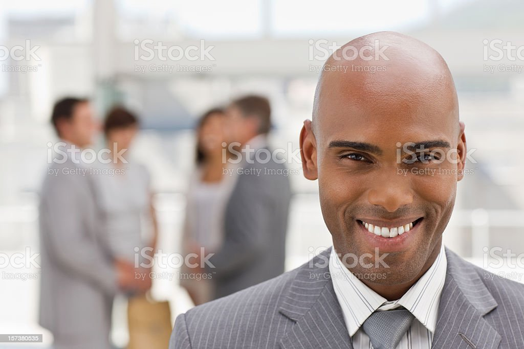 Closeup portrait of happy businessman looking at camera royalty-free stock photo
