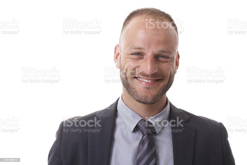 Nahaufnahme portrait von glücklich Geschäftsmann – Foto