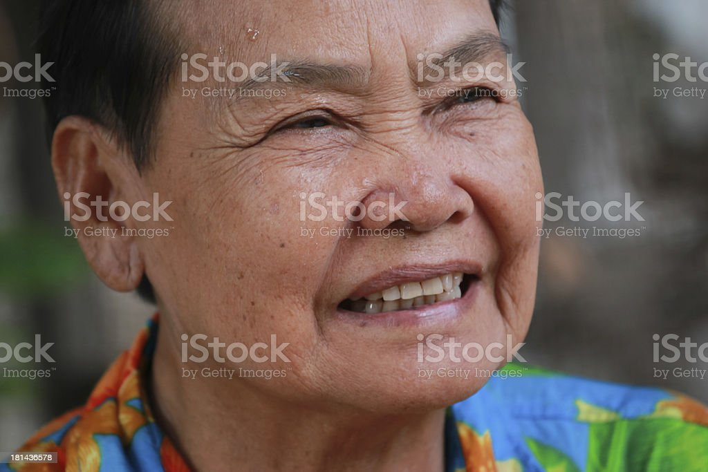 closeup portrait of happy old woman royalty-free stock photo