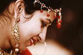istock Close-Up portrait of Indian bride 1128137975
