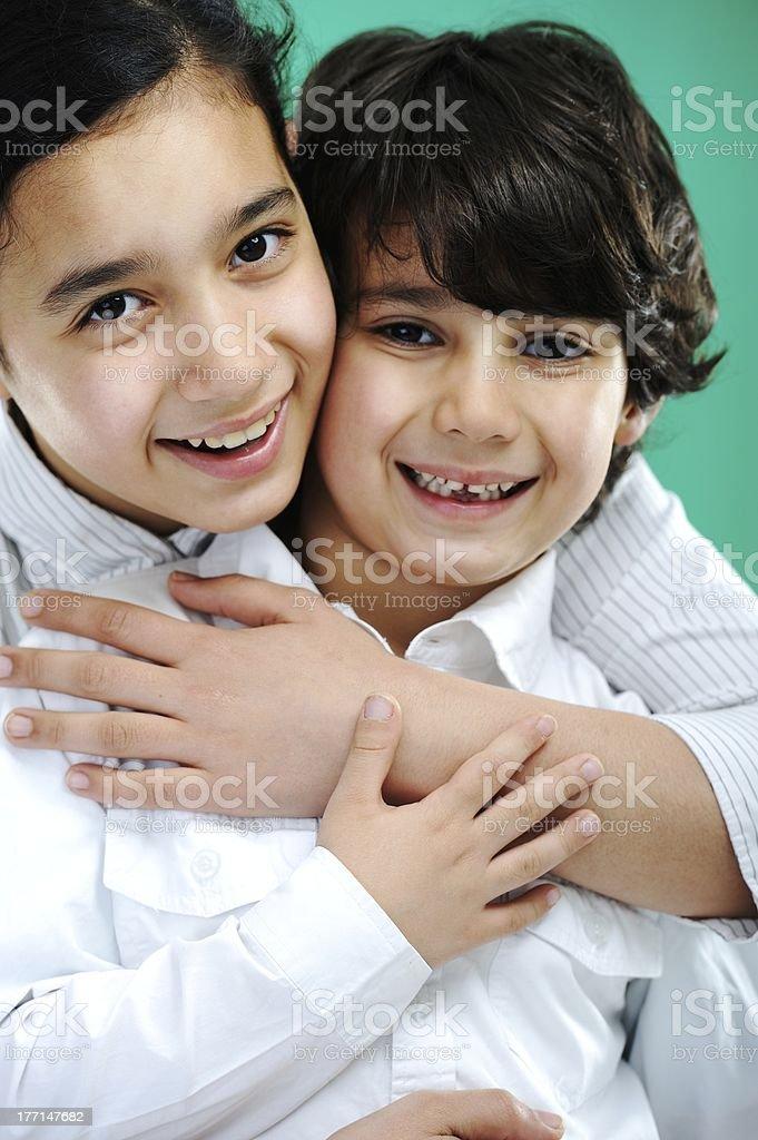 Closeup portrait of kid royalty-free stock photo