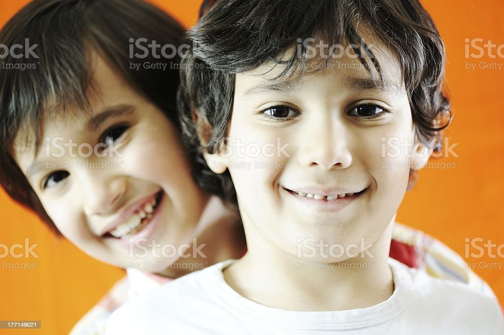 Closeup portrait of kid royalty-free stock photo