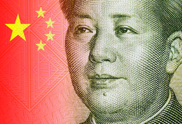Close-up portrait of Mao Zedong, portrait of the chairman Mao and detail of Chinese flag Close-up portrait of Mao Zedong, portrait of the chairman Mao and detail of Chinese flag mao tse tung stock pictures, royalty-free photos & images