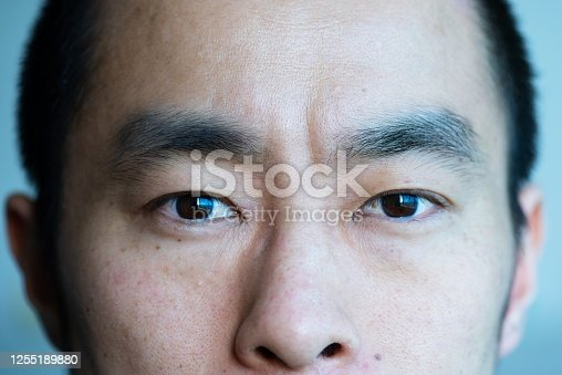 istock Closeup portrait of mid adult man 1255189880