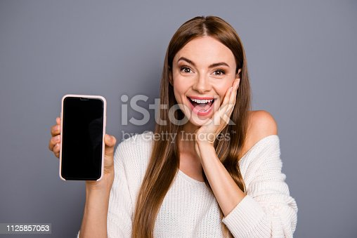istock Close-up portrait of nice adorable lovely sweet pretty attractiv 1125857053