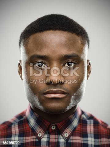 istock Close-up portrait of serious man 639465722
