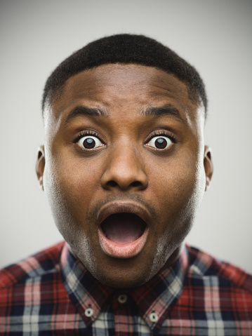 istock Close-up portrait of shocked man 639465968