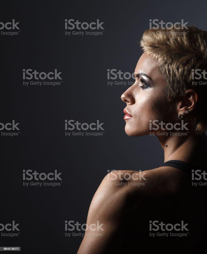 closeup portrait of sporty beautiful woman royalty-free stock photo