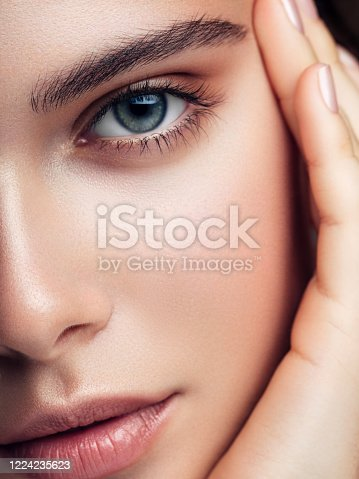 Close-up portrait of the beautiful girl