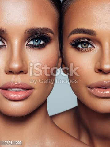 Close-up portrait of the beautiful girls