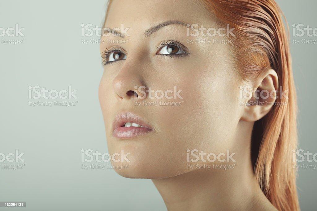 Close-up portrait of Woman stock photo