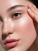 istock Close-up portrait of young and beautiful woman 1272479912