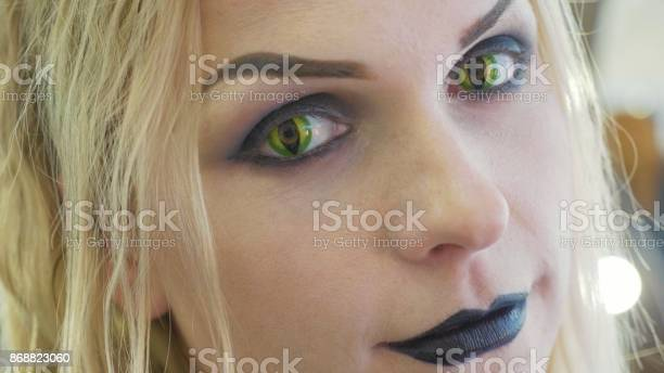 Closeup portrait of young pretty woman with halloween makeup at picture id868823060?b=1&k=6&m=868823060&s=612x612&h=tdwww9plmlth5eqtyiih0vqroddqfamqh0kmh5swnqs=