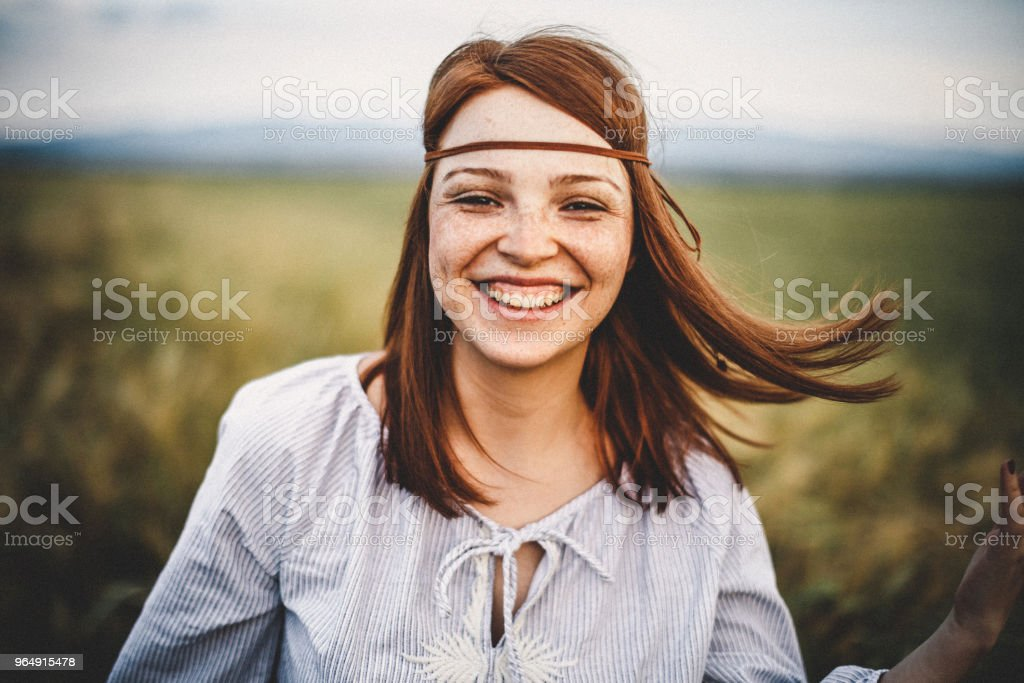 Close-Up Portrait Of Young Woman royalty-free stock photo