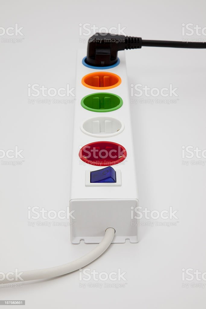 close-up power cord royalty-free stock photo