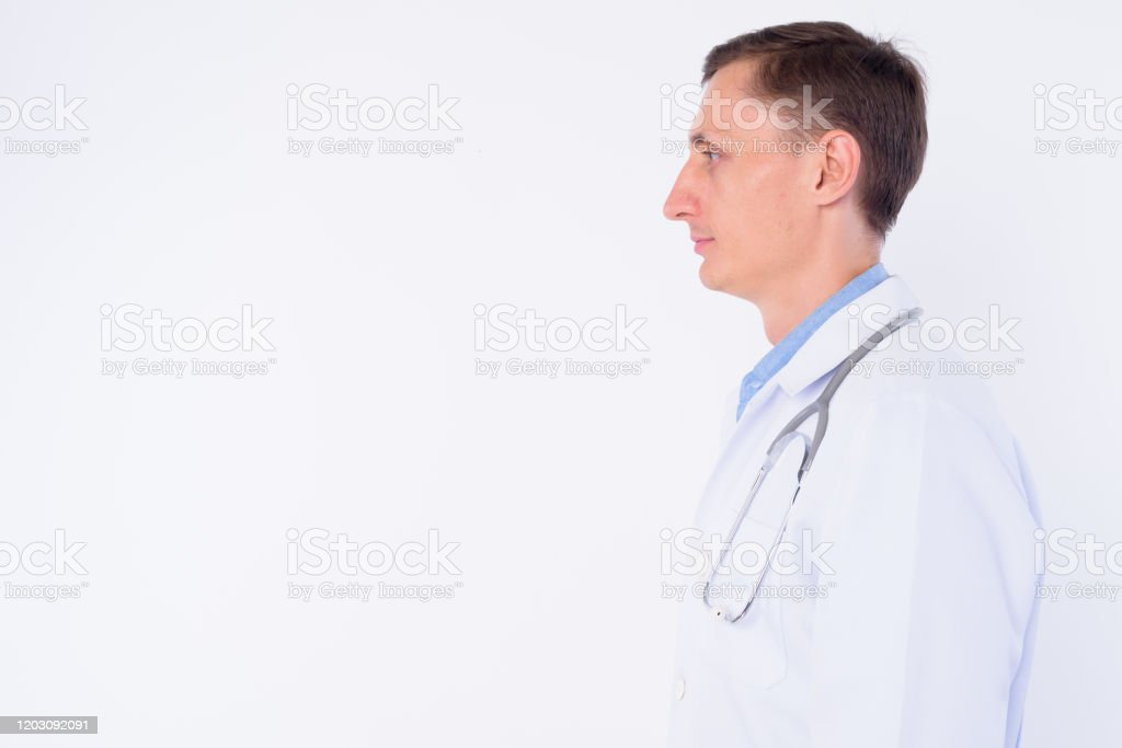 Closeup Profile View Of Man Doctor With Stethoscope Around Neck Stock Photo Download Image Now Istock