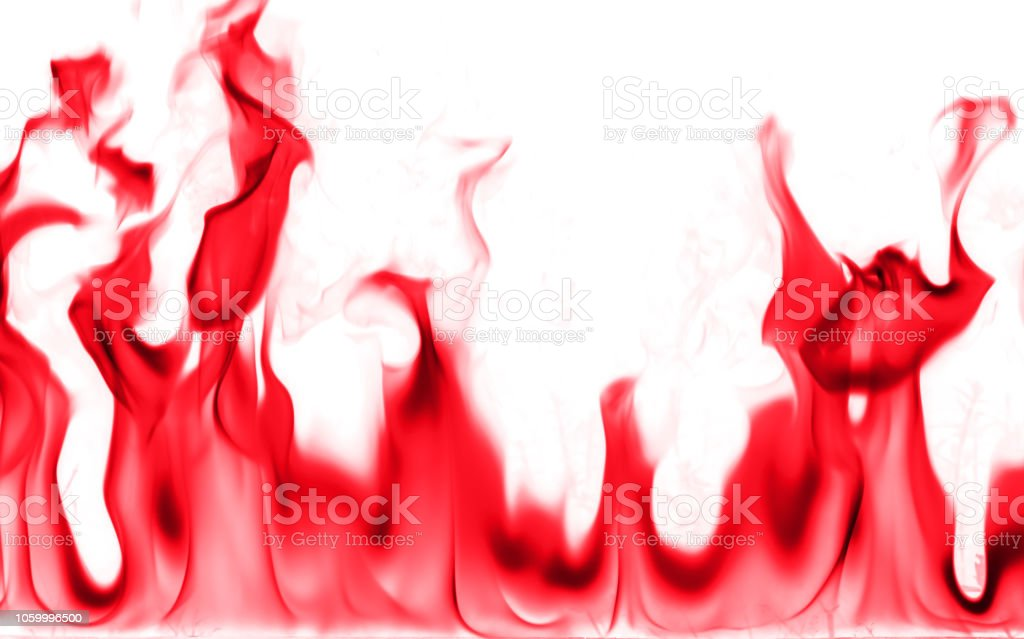 Close-up red color detail fire textured background. Fire flame on...