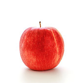 Closeup Red Jazz Apple isolated on white background, Fruits concept.