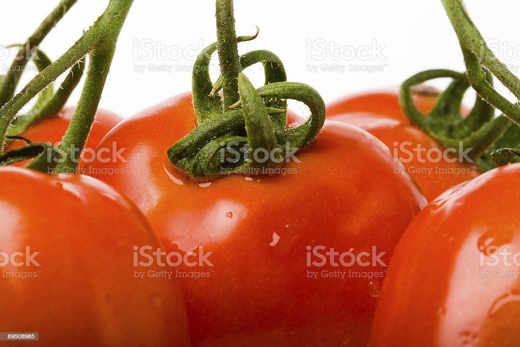 closeup red tomato royalty-free stock photo