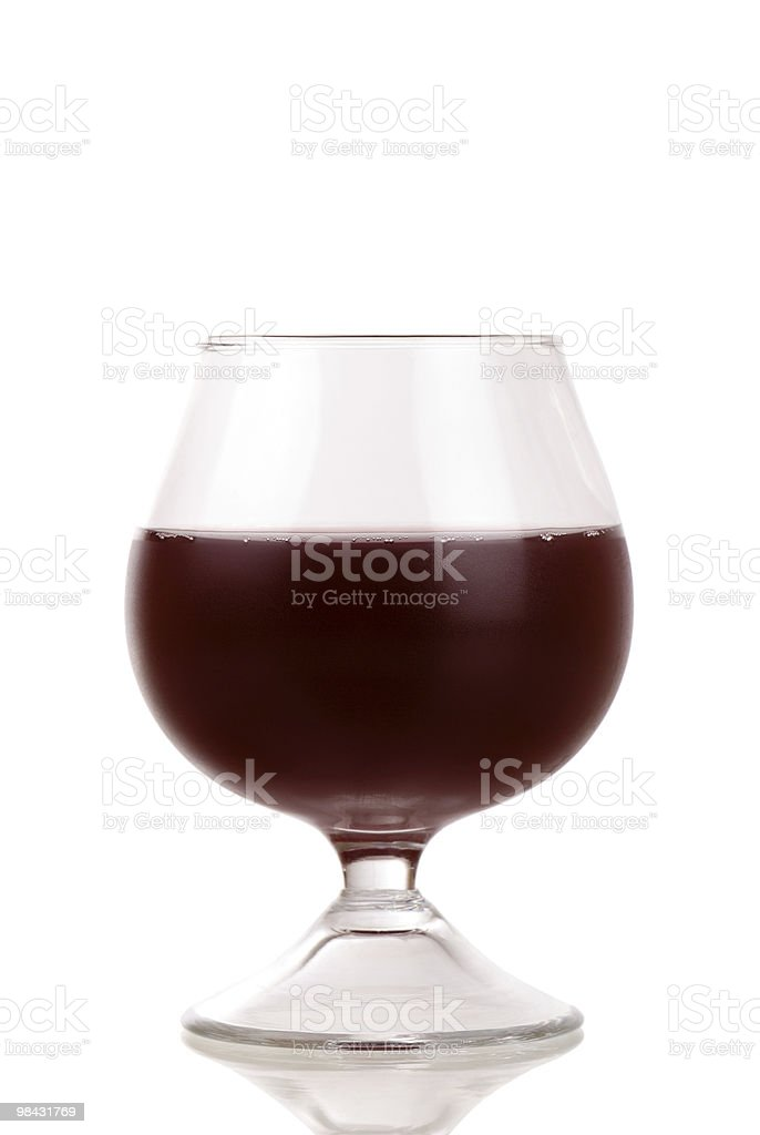 Closeup red wine glass isolated royalty-free stock photo