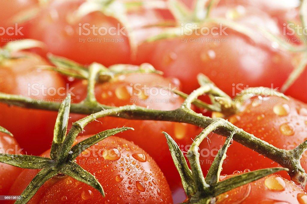 closeup ripe cherry tomato's royalty-free stock photo