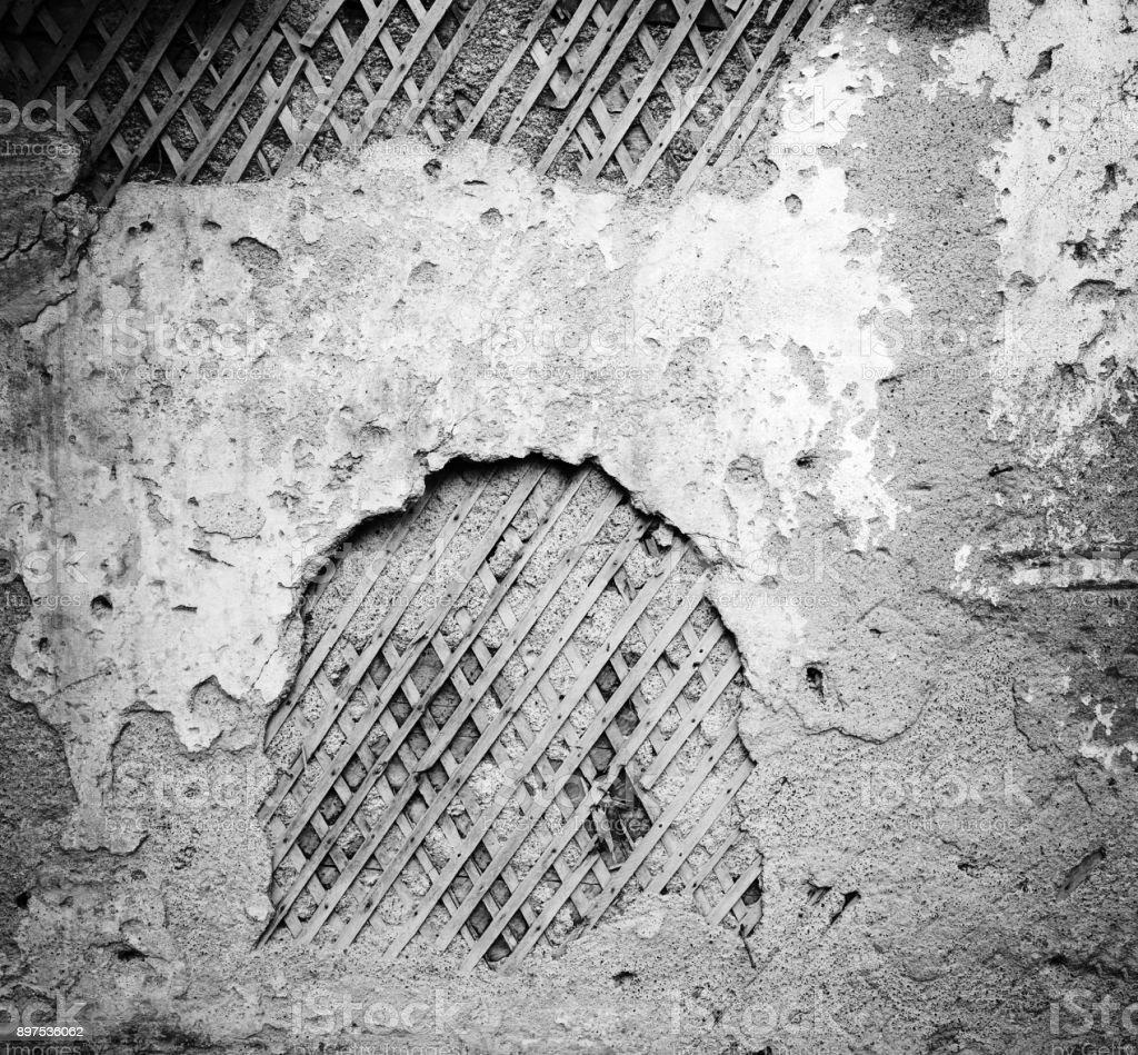 Fotografía de Primer Plano Arruinado Textura De Pared Vieja Gris ...