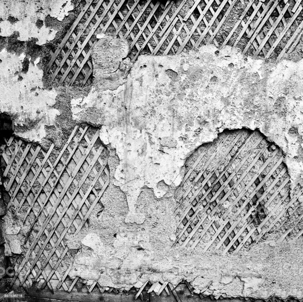 Primer Plano Arruinado Textura De Pared Vieja Gris Grunge Fondo De ...