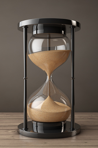 Closeup Sand Hourglass 3d Rendering Stock Photo - Download Image Now - iStock