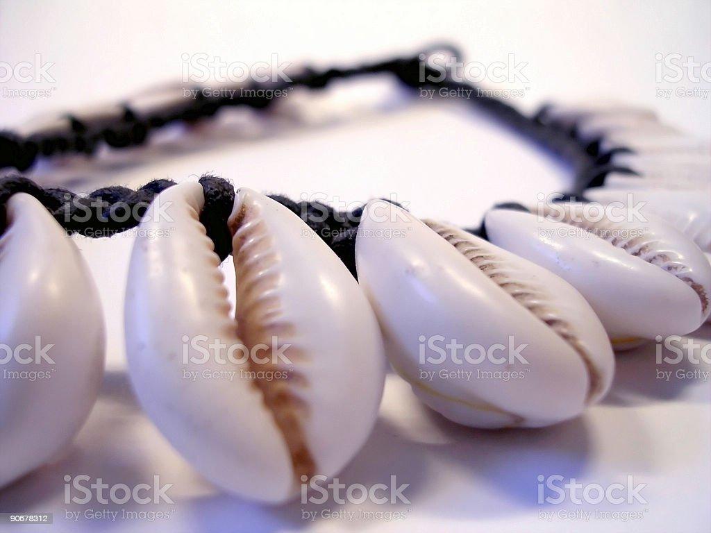 Closeup Shell Necklace royalty-free stock photo