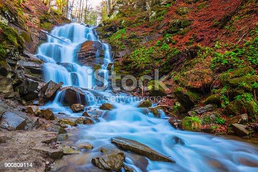closeup Shipot waterfall, Carpathians Ukraine