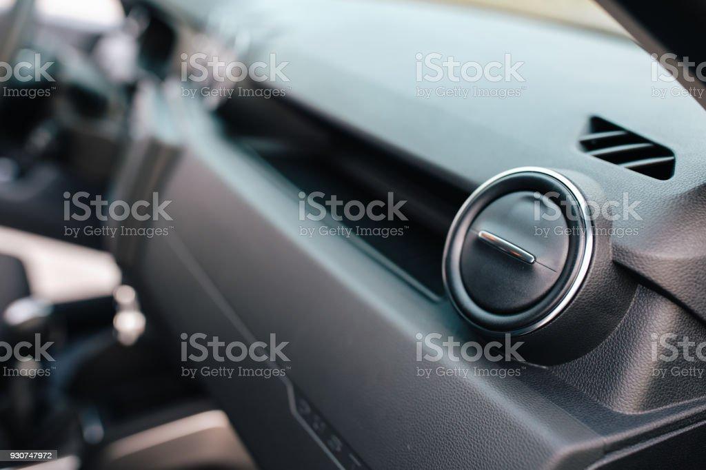 Closeup shot of a vehicle interior elements