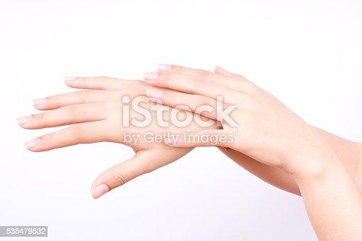 istock closeup shot of beautiful women hands applying hand cream 535479532
