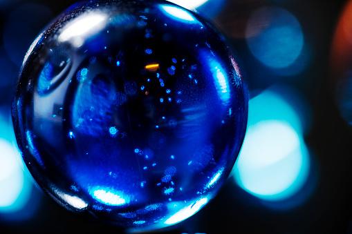 Closeup Shot Van Glazen Knikkers Stockfoto en meer beelden van Bal