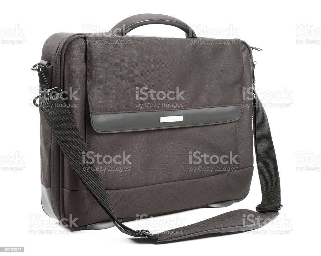 Preto bolsa para laptop - foto de acervo