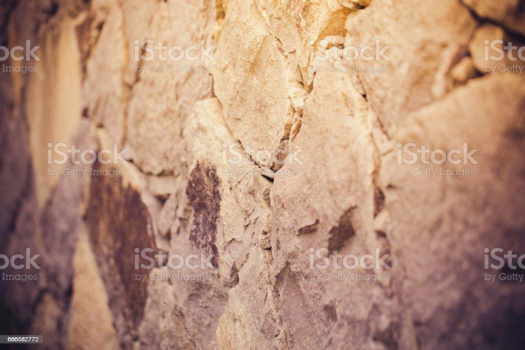 Close-up shot of stone blocks royalty-free stock photo