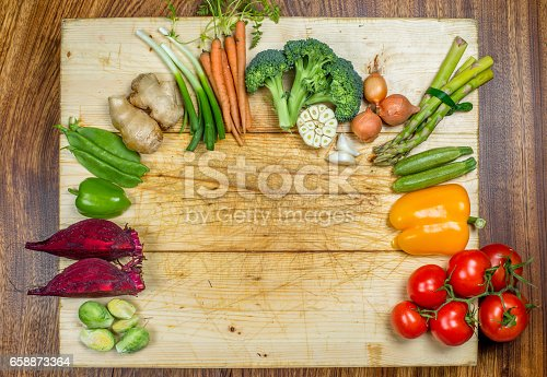 507328769 istock photo Closeup shot of vegetables on a table 658873364
