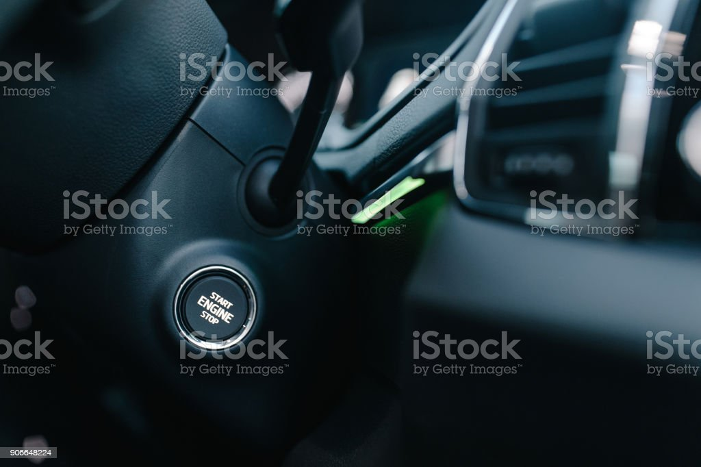 Closeup shot of vehicle interior elements