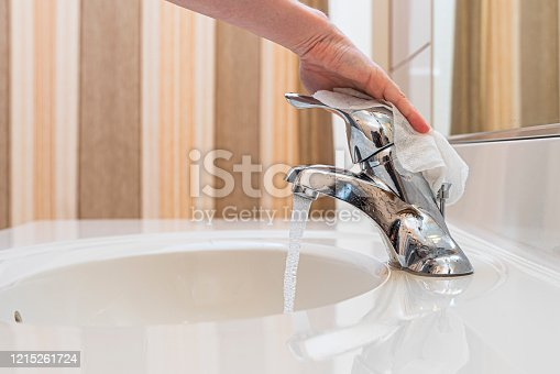 home hygiene - cleaning in a bathroom