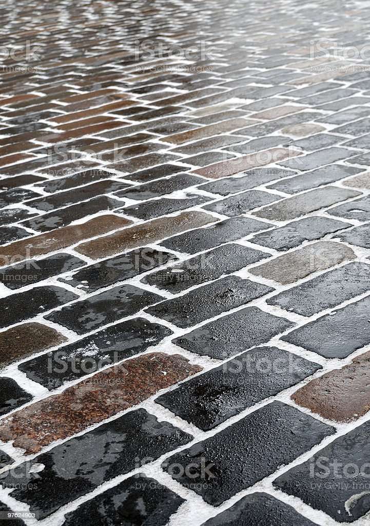 Closeup sidewalk in church courtyard royaltyfri bildbanksbilder