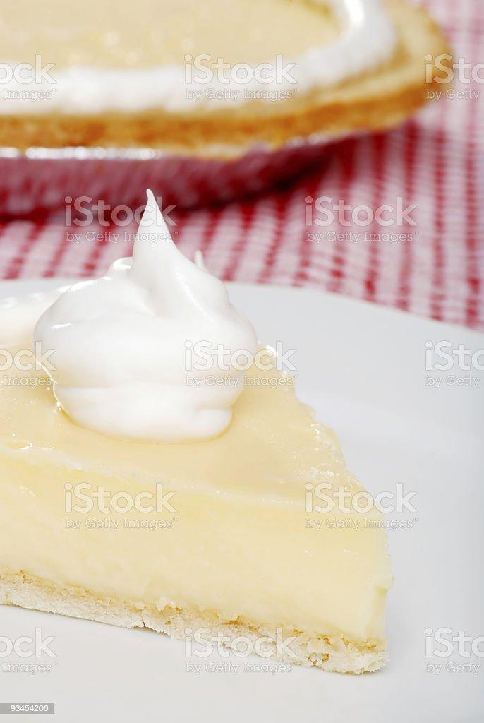 closeup slice of banana cream pie stock photo