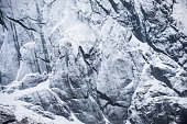 Close-up texture snow mountain with shiny light